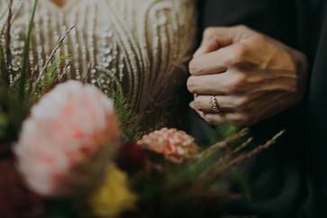 Bridal details in Pfiffner building industrial wedding