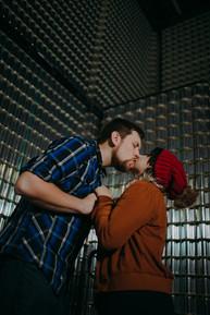 Man kisses women inside O'so Brewery