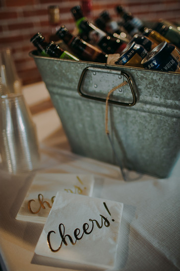 Historic Stevens Point industrial wedding decor