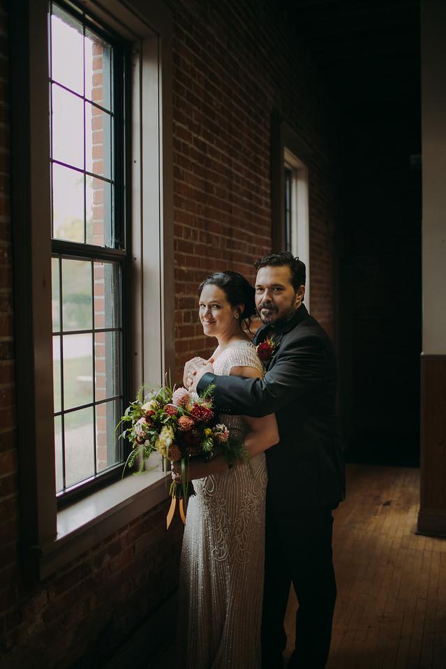 Industrial downtown wedding in Pfiffner Building