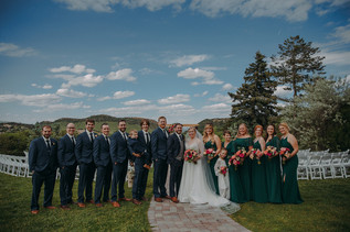 The bridal party at The Manor House during a southern Colorado foothills wedding.
