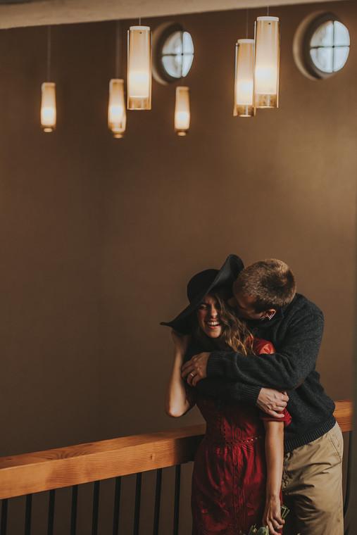 Couple celebrates anniversary at Villa Bellezza.
