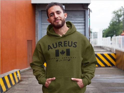 AUREUS CANADA ARMY GREEN HOODIE