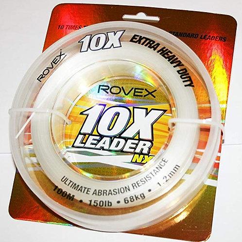 Rovex 10X - Extra Heavy Duty Mono Leader 100m spools 50lb to 200lb