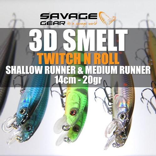 SAVAGE GEAR 3D SMELT TWITCH N ROLL