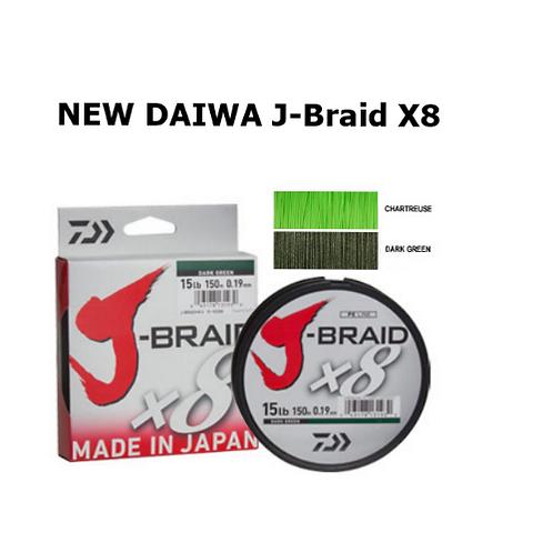 DAIWA J BRAID X8 CHARTREUSE 150M