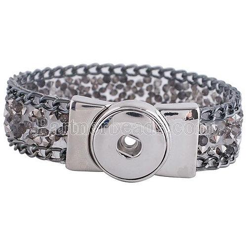 Crystal Button Bracelet