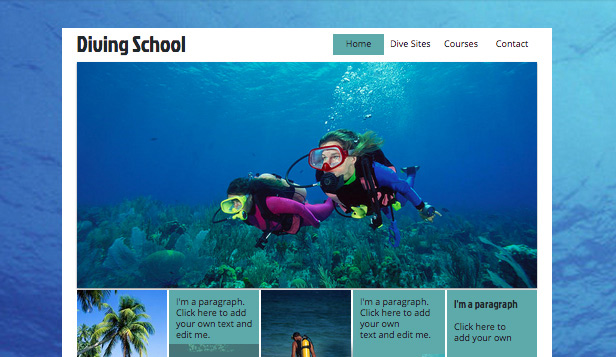 Sport & Recreation website templates – Scuba Diving