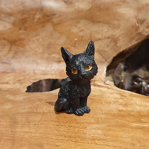 mini black cat lisa parker miniatuur kleine zwarte kat kitten poesje beeldje figurine