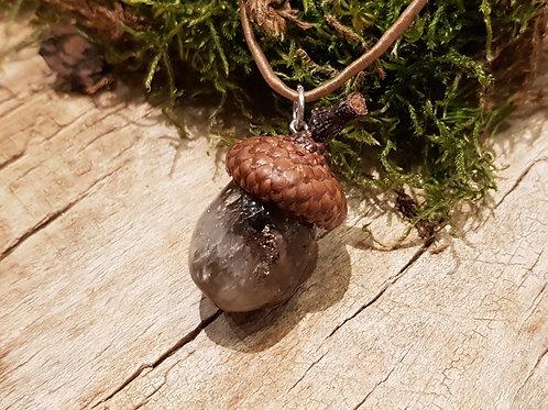 acorn citirine necklace eikeltje citrien hanger