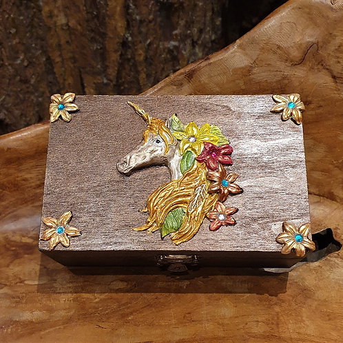 Unicorn Magic trinket Tarot box