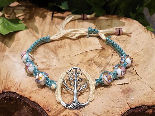 Silver Tree of Life Boho bracelet