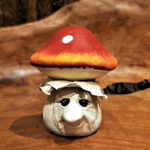 Funny Ceramic Mushroom figurine