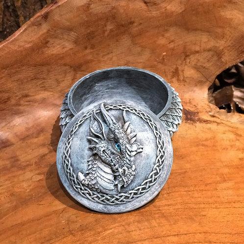 dragon scale box trinkets rond doosje met draak drakenschubben draakje 1