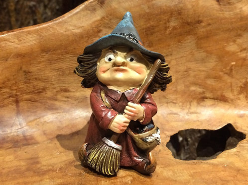 Toil witch figurine kleine heks beeldje