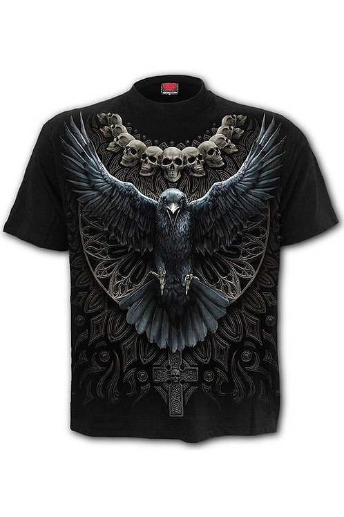 raven skull bird tshirt raaf schedels alternatieve kleding spiralraven skull bird tshirt raaf schedels alternatieve kleding