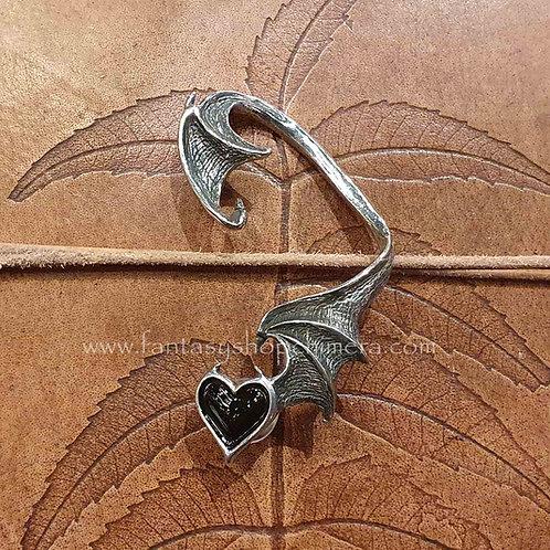 black soul earwrap jewel oorsieraad alchemy hart vleermuis bat heart