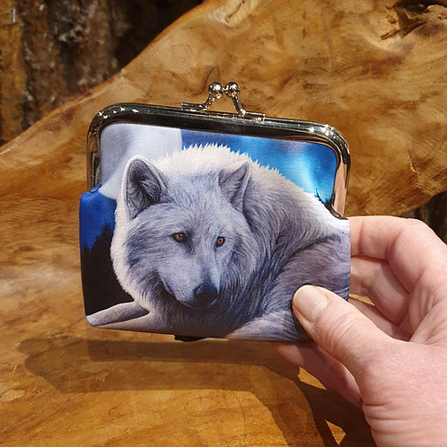 coin purse portemonnee wolf guardian of the north lisa parker