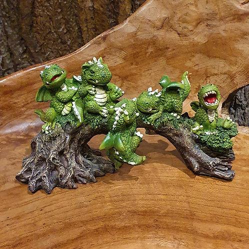 dragon family playtime figurine spelende draakjes draken beeldje fantasy art winkel amsterdam