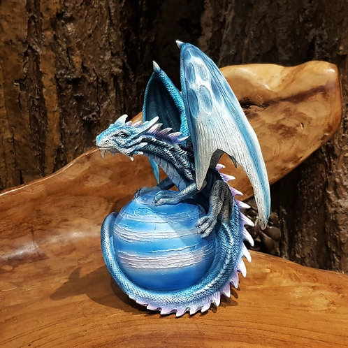 blue planet dragon figurine blauwe planeet draak draken beeldje