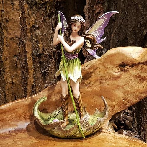River fairy in leaf boat figurine elf fee in bladvormige boot beeld elfenwinkel amsterdam