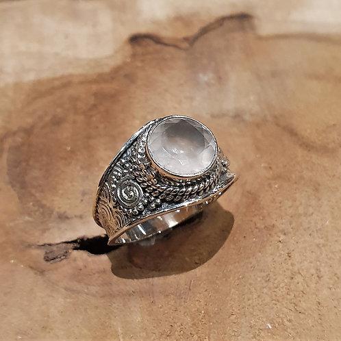 rose quartz ring of love silver symbool van liefde rozenkwarts zilver