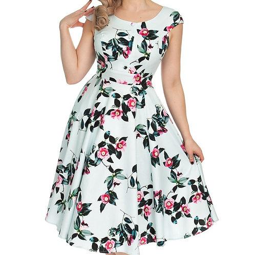 elena swing dress 50s style pinup hillbilly dansjurk jurk cirkelrok h&r mademoiselle