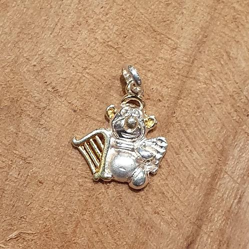 teddy bear angel silver gold necklace charm pendant zilveren gouden teddybeer hangertje bedeltje