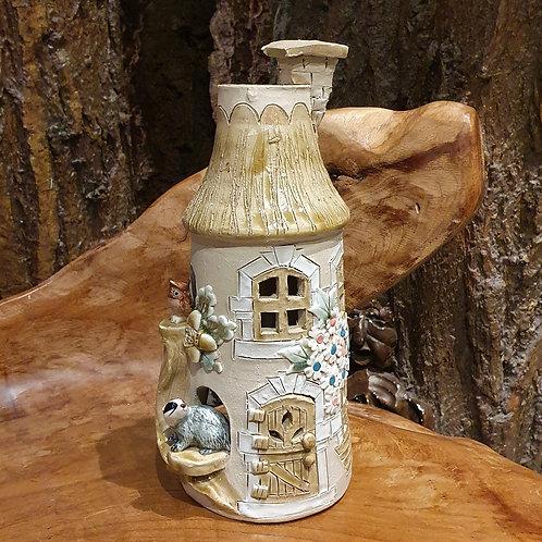 perfume difuser cottage ceramic ooak parfumbrander parfum-verdamper huisje keramiek