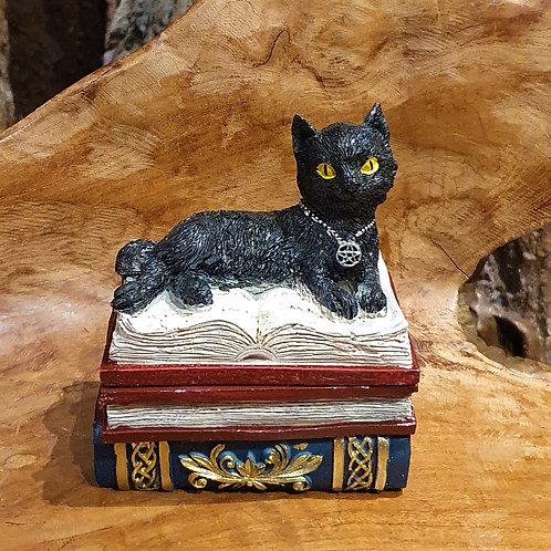 books of secrets black cat box jewelry jewellery boeken geheimen zwarte kat doosje sieradendoosje
