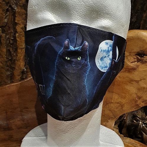 cat face mask lisa parker art gezichtsmasker katje poesje alternative wear