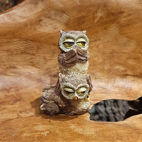 3 Wise Owls hear no see no