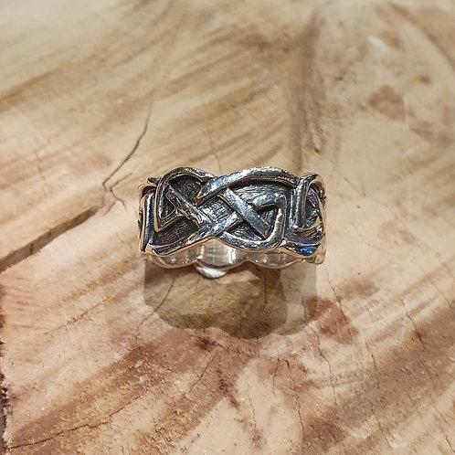 celtic wave knot ring keltische knoop ring zilver 1