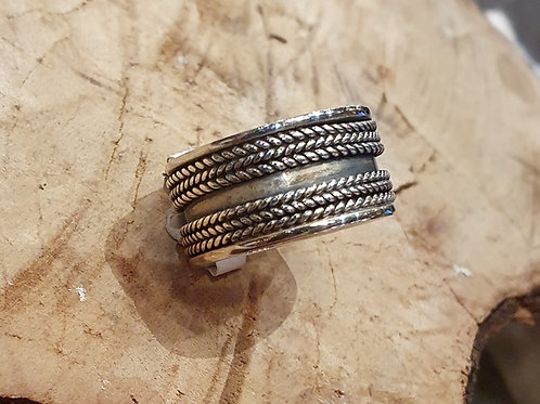 bandring breed indian style wide silver ring for men herenring