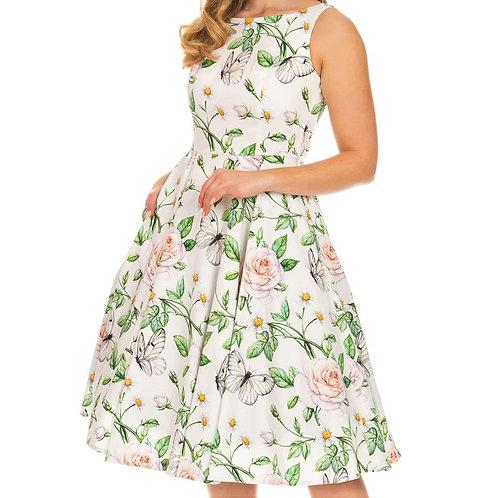 Spring dress flower swing  pin up 50's style jaren 50 stijl dansjurk jurk full circle cirkelrok Nora floral H&R