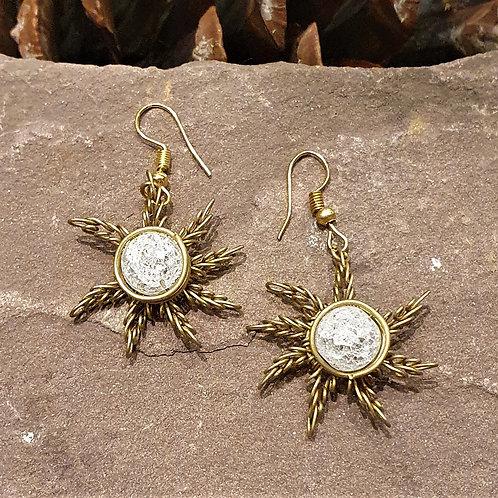 Qraqueled sun Earrings