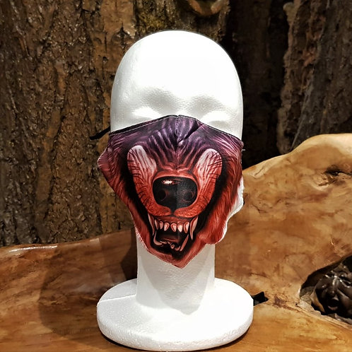 face mask non medical gezichtsmasker medisch horror wolf tanden teeth print