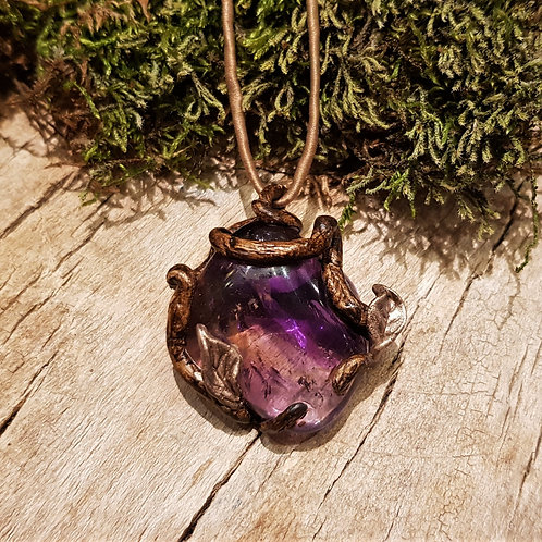 ametrine ametrien forest root boom wortel sieraad hanger pendant necklace