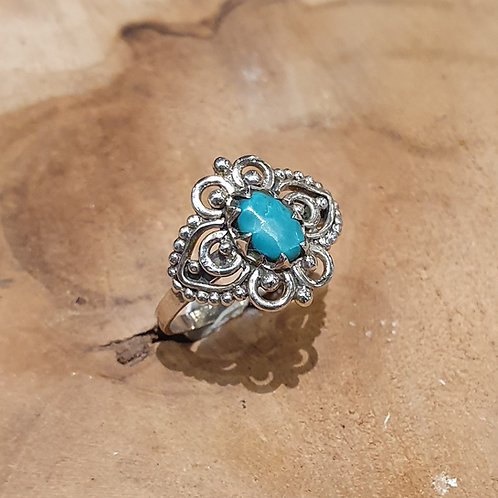 turquoise stone ring turkoois zilver silver jewelry jewellery