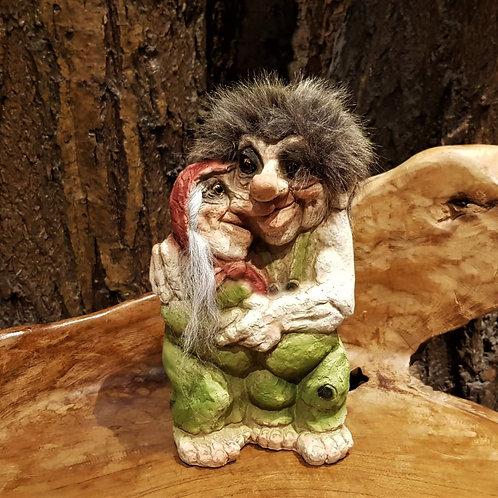 happy couple man woman troll love norwegian original nyform noorse trollen man vrouw stel trollenwinkel