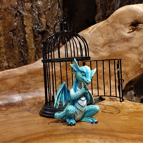 Azure Pet Dragon with Cage