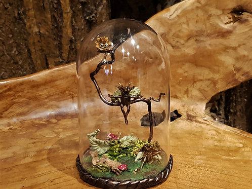 happy leafners fantasy creatures pixies bell jar glazen stolp fantasie figuurtjes ooak