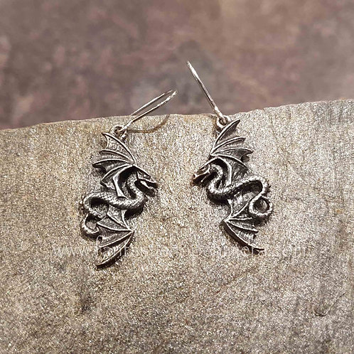 flight of airus dragon earrings alchemy drakenoorbellen draak oorbel sieraden