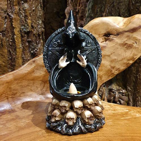 penta soul watcher backflow incense holder skulls wierookhouder waterval_effect puntjeswierook