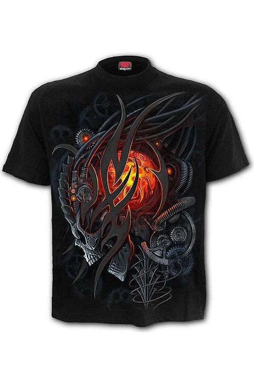steampunk skull tribal tshirt spiral alien schedel alternatieve kleding
