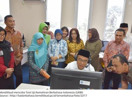 Mendikbud mencoba Test Uji Kemahiran Berbahasa Indonesia (UKBI)