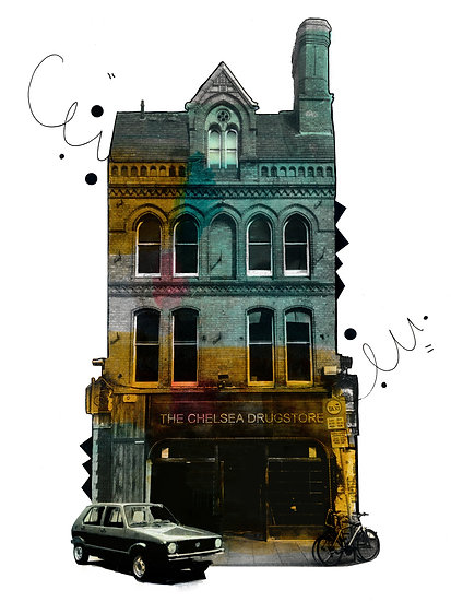 The Chelsea Drug Store - Limited Edition Print from €60