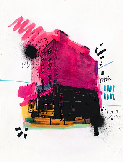 J Grogan - Castle Lounge 2 - Limited Edition Print from €60