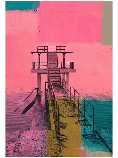 Blackrock Diving Tower 2, Salthill, Galway - Limited Edition Print from €60