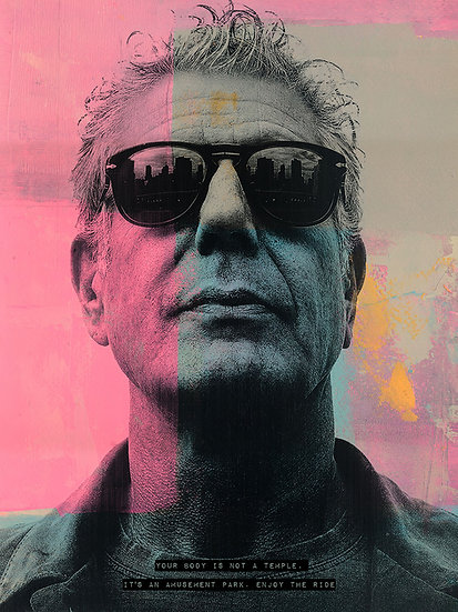 Anthony Bourdain - Limited Edition Print from €60